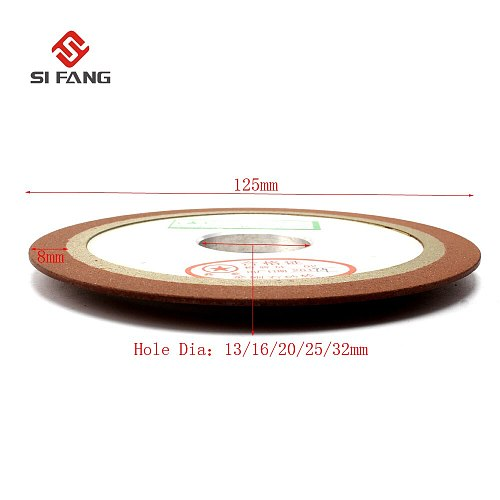PDX 125mm One Tapered Side Plain Resin Diamond Saw Blade Grinding Wheel 150 grit with  Bore Dia 13/16/20/25/32mm