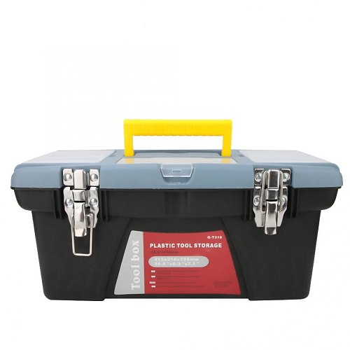G-T316 Portable Toolbox with Carrying Handle Hardware Storage Case Repair Tool Container Toolbox