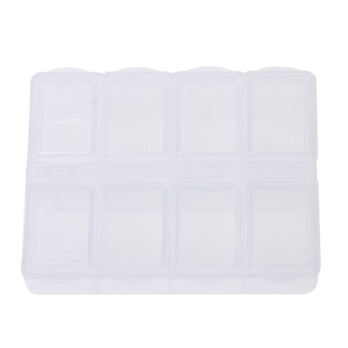 8 Grids Plastic Storage Box Case Home Organizer Jewelry Beads Pill Boxes Parts JUL14-A