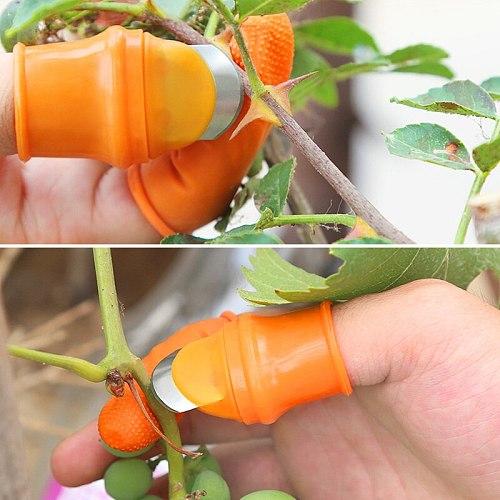 Thumb Cutter Separator Finger Tools Picking Device for Garden Harvesting Plant Gardening GHS99