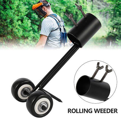 1PC Multifunctional Rolling Wheel Weeder Bend Hook Weeding Tool Garden Corner Weeds Grass Cutter Remover Garden Accessories