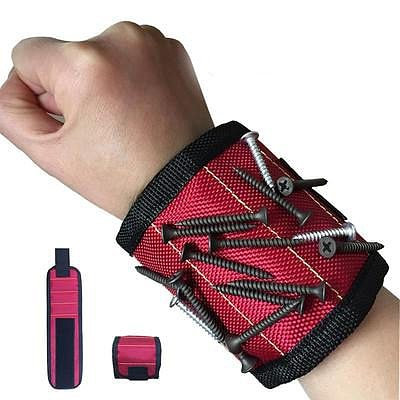 Wrist Support Strong Magnetic For Screw Nail Holder Wristband Band Tool Belt Screws Nails Drill Bits Bracelet for  Repair Tool