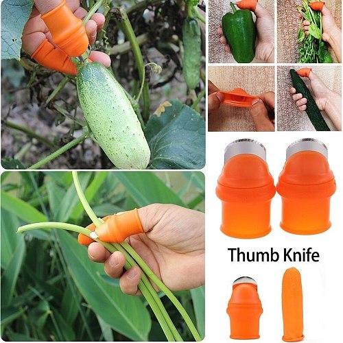 Thumb Cutter Gardening Tools Pruning Shears Garden Picking Plant Vegetables Separator Finger Tool Multifunction Kitchen Cutter