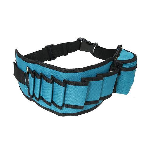 Multi-pockets Portable Tool Bag Waist Pockets Electrician Tool Bag Organizer Carrying Pouch Tools Bag Belt Waist Pocket Case