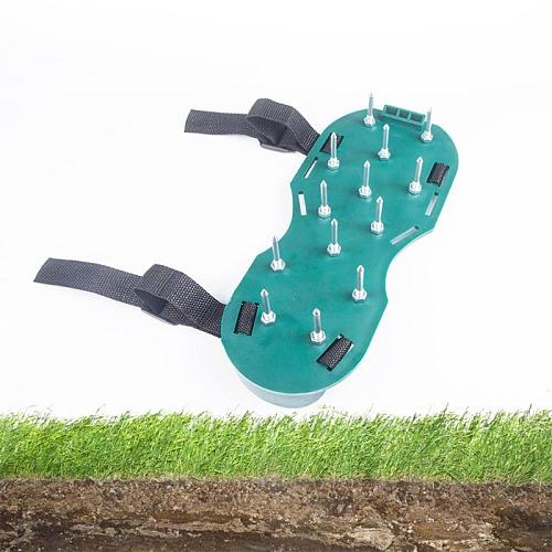 1 Pair Garden Yard Grass Cultivator Scarification Lawn Aerator Nail Shoes Gardening Tools 30CM Shoes For Lawn Aerator