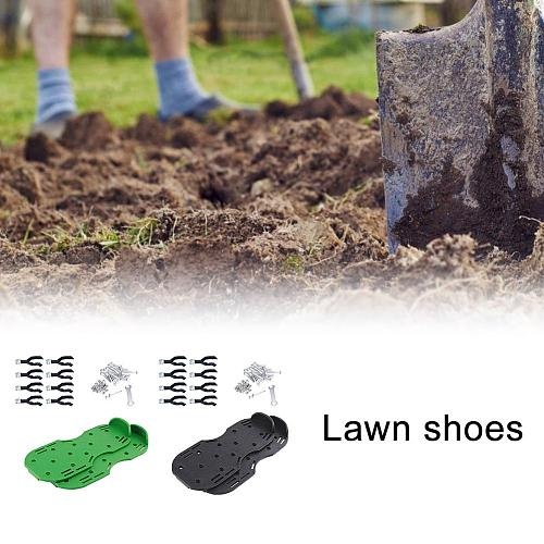 Lawn Aerator Shoes Lawn Aerating Shoes With Spikes Heavy Duty Lawn Shoes For Women Men Aerating Your Yard Lawn Roots Grass
