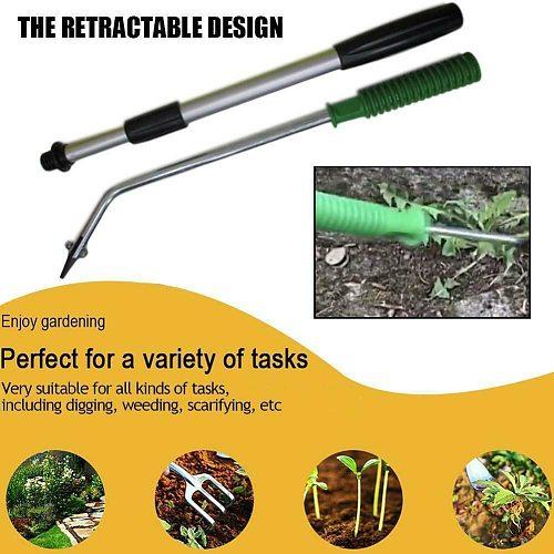 Extending Telescopic Slab Weeding Remover Tool Patio Paving Garden Weeder Outdoor