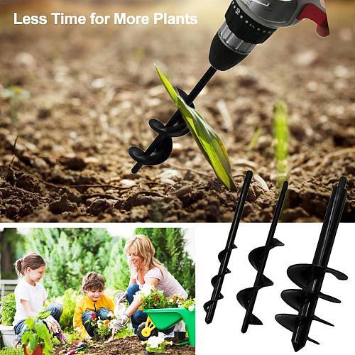 Auger Rod Garden Planting Auger Loose Soil Drill Bit Home Garden Planting Flower Drill Alloy Ground Drill Bit Professional Tool