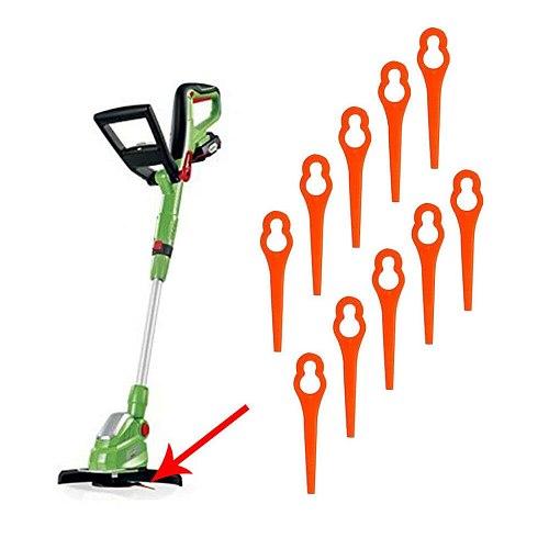 25/50/100pcs Mower Blades For RT250  Electric Grass Trimmer Cordless Grass String Trimmer Pruning Cutter Garden Tools #15