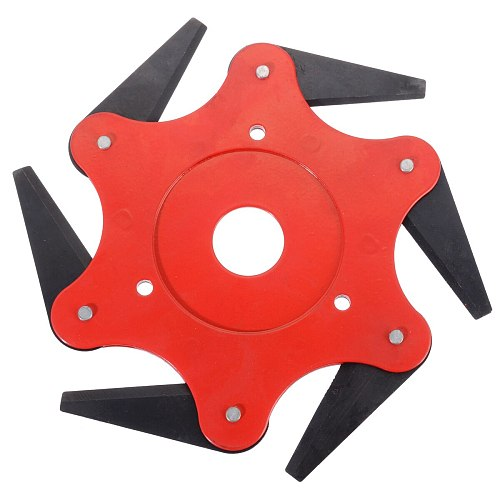 New 6 Blades Brush Cutter Weed Head Garden Power Tool Accessories for Lawn Mower