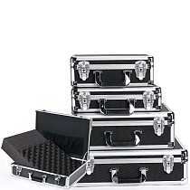 Aluminum Toolbox Shockproof Tool Case Portable Equipment Instrument Case Aviation Case File Outdoor Box With Foam