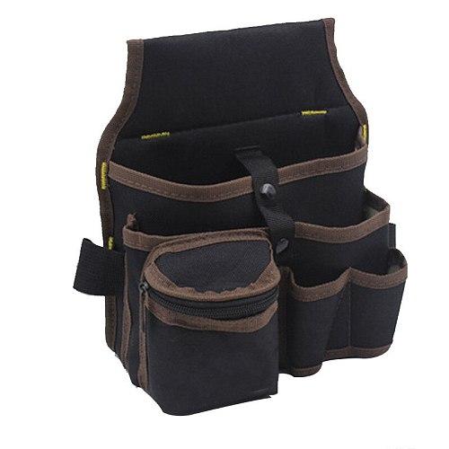 1PCS High Capacity Tool Bag Waist Pockets Black Electrician Tool Bag Oganizer Carrying Pouch Tools Bag Belt Waist Pocket Case