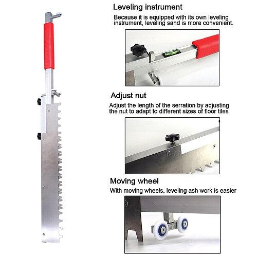Versatile Tile Sand Paving Tool Ash Paver Multifunctional Leveling Ruler Adjustable Tile Leveler Cleaner Tool