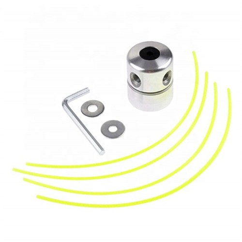 Aluminum grass trimmer head with four-wire mower head, lawn mower accessories cutting thread head, used to replace the trimmer
