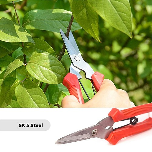 Gardening Hand Pruner Garden Scissors Pruning Shears Micro-Tip Pruning Snips Leaf Trimmer Straight Florist Scissor For Plants
