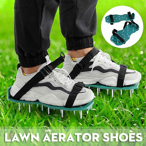 1Pair Grass Spiked Gardening Walking Revitalize Lawn Aerator Sandals Shoes Nail Shoes Tool Nail Cultivator Yard Garden Tools