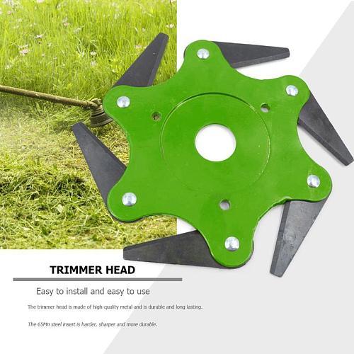 6T Blade Manganese Steel Mower Grass Trimmer Head Garden Brush Cutter Blade Blades Trimmer Head Power Tool Accessories