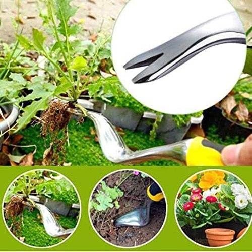 2pcs Hand Weeder Garden Lawn Farmland Transplant Garden Bonsai Grass-pulling Tool Weeding Removal Cutte Digger Puller Tools