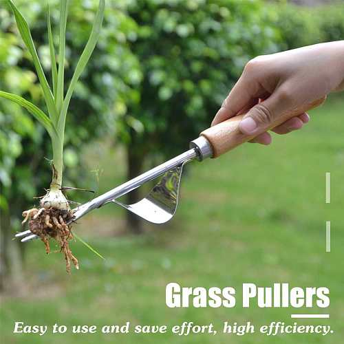 Multifunction Manual Weeder Fork Garden Outdoor Removal Stainless Steel Farmland Puller Manual Digging Lawn Hand Digging Tool