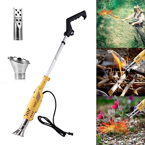 Home Garden Electric Weed Burner Garden Gear Weed Killer Thermal Weeding Stick 2000W 230V EU UK Plug With Extra Long Nozzle