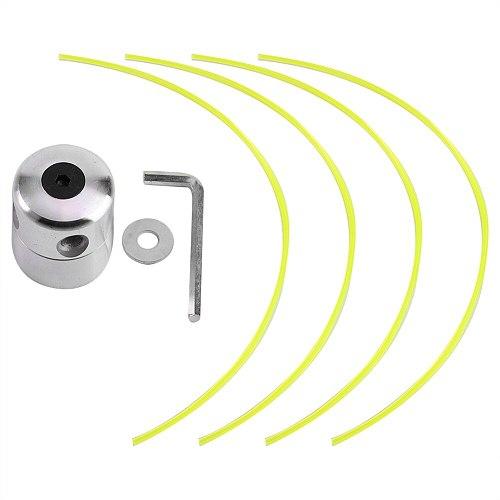 Universal Aluminium Alloy Strimmer Trimmer Head String Set for Gasoline Grass Brush Cutter