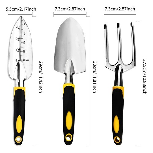 Garden Tool Set, 4-Pack Gardening Gift, Including Shovel, Grower Hand, Transplant Shovel, Gardening Gloves-Weeding, Loosening, D
