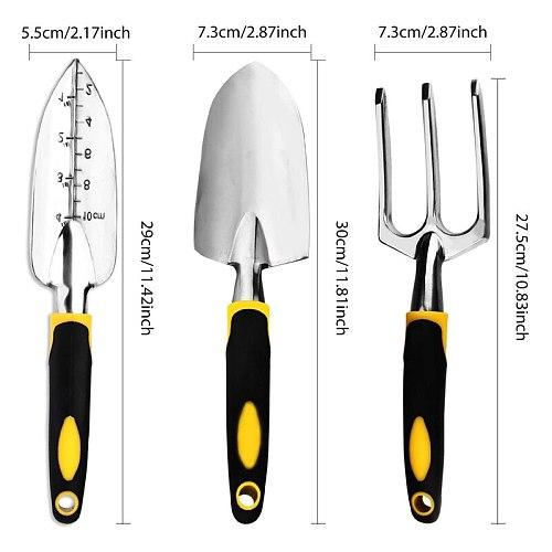 GTBL Garden Tool Set, 4-Pack Gardening Gift, Including Shovel, Grower Hand, Transplant Shovel, Gardening Gloves-Weeding, Looseni