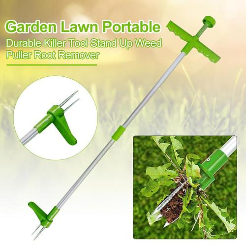 Root Remover Outdoor Killer Tool Claw Weeder Portable Manual Garden Lawn Long Handled Aluminum Stand Up Weed Puller Lightweight