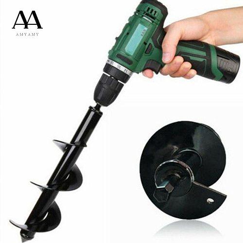 Li Zhou New Garden Auger Spiral Flower Planter Drill Bit Planting Hole   Digger Tool High Quality