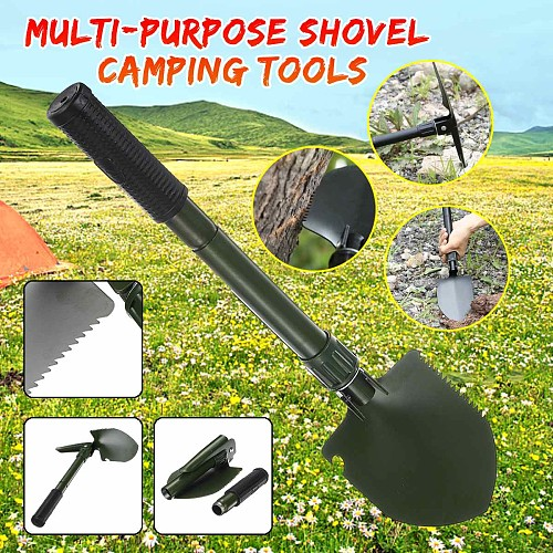 2020 New Multi-purpose Outdoor Shovel Garden Tools Folding Military Shovel Camping Defenses Security Tools