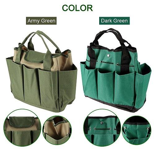 Garden Tool Bag Oxford Fabric Garden Bucket Bag For Gardening Tool Kit Tools Excluded