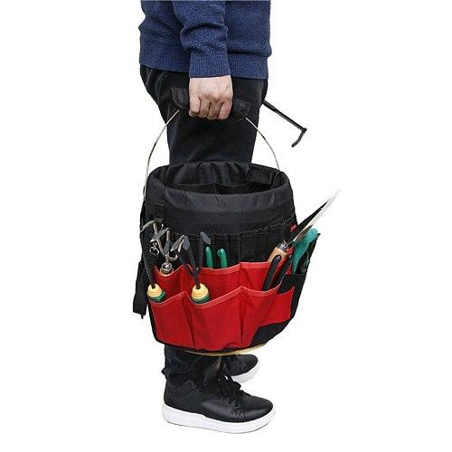 42 Pockets Bucket Tool Organizer Garden Waterproof Tearproof Tools Bag Multifunctional Portable Wear Resistant Tool Organizer