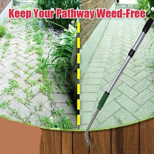 35  Telescopic Long Handle Prong Weeder No More Bend Weed & Moss Rake Easily Remove Weeds Puller While Saving Your Knees & Back