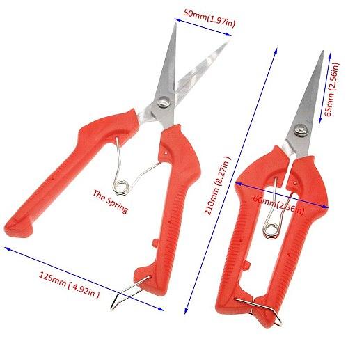 Gardening Pruning Scissors Sharp Knife Edge 3CR13 +PP Antislip Handle Flower/Fruit Picking Scissors Garden Hand  Shear Tools