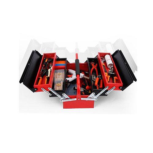 Metal Iron Portable Multi-function Folding Tool box Household Maintenance Electrician Anti-fall Tool Case