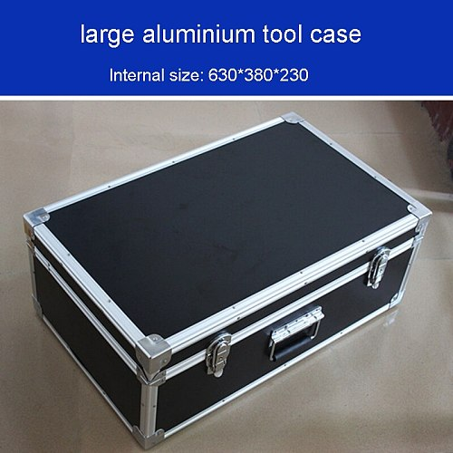 large aluminium tool case Shockproof moisture toolbox More durable bearing box instrument box  equipment case bin 625*375*230MM