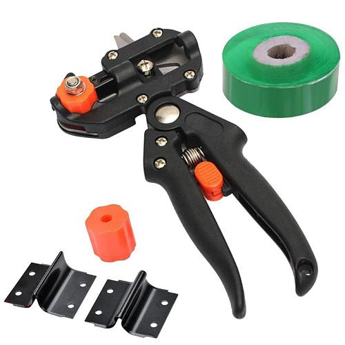 Garden Tools Grafting Pruner Chopper Vaccination Cutting Tree Plant Shears Scissor and 2cm Graft Film Tape Dropshipping