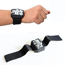 Super strong Magnetic Wristband Portable Tool Bag Electrician Wrist Tool Belt Screws Nails Drill Bits Repair Tool Storage Box