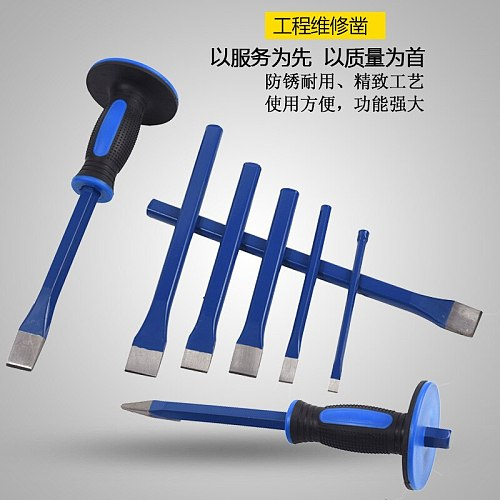 Alloy Steel Chisel Stonecutter Chisel Flat zao zao Iron with Flat Chisel Spitstick Flat Steel Plate Cutting High Speed Steel Chi