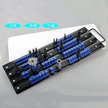80pcs Socket Rack Tray Holder Metal Rail for 1/4  3/8  1/2  Drive Sets Tool Organizer Storage Socket Organizer Holder