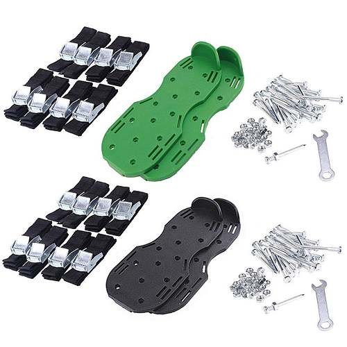 Lawn Aerator Shoes Grass Spiked Gardening Walking Revitalizing Lawn Aerator Sandals Shoes Tool Nail Cultivator Yard Garden Tool