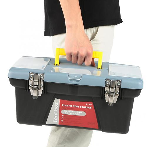 Portable Toolbox with Carrying Handle Hardware Storage Case Repair Tool Container  Repair Tool Box