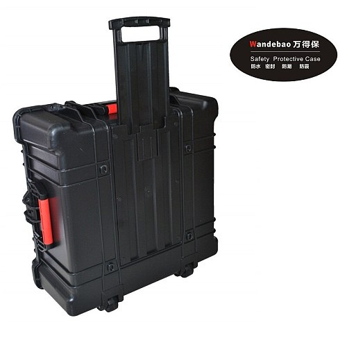 large ABS Tool case toolbox trolley Impact resistant sealed waterproof safety ABS case 580-580-268MM camera case with foam