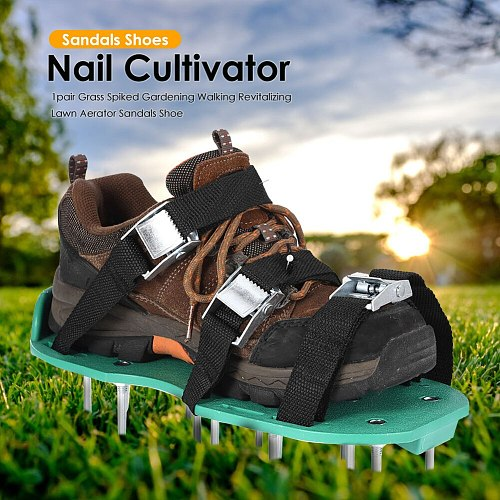 Grass Spiked Gardening Walking Revitalizing Lawn Aerator Sandals Nail Shoes