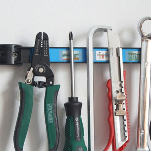 12 Inches Strong Magnetic Tool Holder Rack Metal Organizer Bar for Garage Workshop