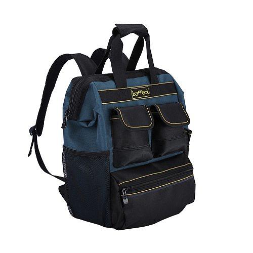 Baffect Tool Backpack with Tool Organiser Electrician Tool Bag for Storage Tradesman Organizer Bag Technician Bag for Technician