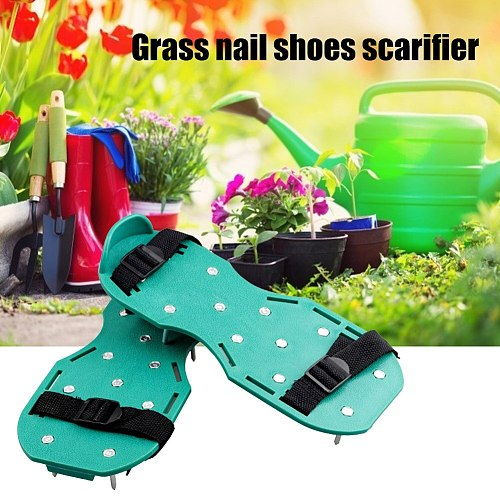 1 Pair Grass Spiked Gardening Walking Nail Shoes Revitalizing Lawn Aerator Sandals Shoes Nail Shoes Grass Spiked Cultivator Tool