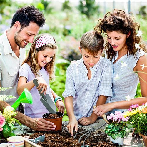 Portable Garden Tool Set PP Multifunctiona Kit Gardening Tools Potted Plants Green Gardening Shovel Rake Durable 3pcs/Set
