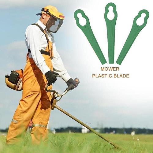 10pcs Plastic Cutting Blade Gourd-shaped Lawn Mower Garden Pendants Timmer Blades Grass Knife K7K2