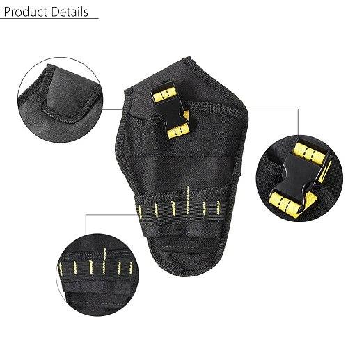 Heavy-duty Drill Holster Tool Belt Pouch Bit Holder Hanging Waist Bag Drill Tool Storage Bags PAK55